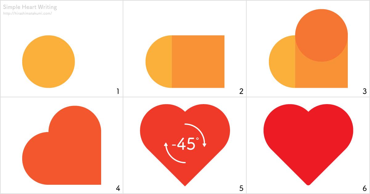 Adobe illustrator 簡単なハートの描き方